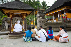 Balinese ceremony in the temple Stock Image
