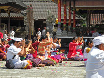 Balinese ceremony in the temple Royalty Free Stock Photos