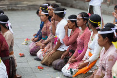 Balinese ceremony in the temple Royalty Free Stock Photography