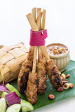Balinese Chicken Satay Stock Photos