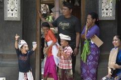 Balinese children enjoying Royalty Free Stock Image