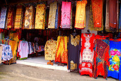 Balinese colourful batik (Indonesia) Stock Photo