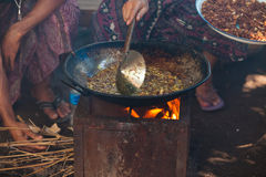 Balinese cooking Royalty Free Stock Photos
