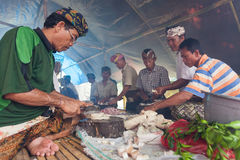 Balinese cooking Royalty Free Stock Image