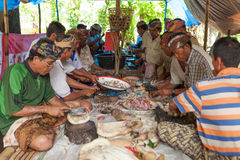 Balinese cooking Stock Images