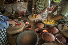 Balinese Cooking Class Royalty Free Stock Photography