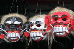 Balinese culture masks Royalty Free Stock Images