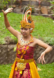 Balinese dancer. Young Balinese female dancer performing traditional Legong dance Royalty Free Stock Photos