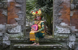 Balinese dancer. Smiling for the camera stock image