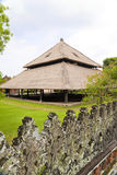 Balinese Design and Architecture, Indonesia. Image of traditional Balinese style architecture in the form of a large attap roofed building at Taman Ayun, Bali Royalty Free Stock Image