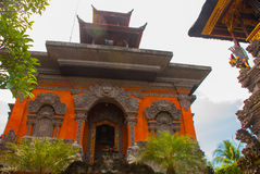 Balinese door facade of temple. Ubud. Bali. Very beautiful temple Balinese temple in Ubud. Bali. Indonesia Stock Images