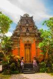 Balinese door facade of temple. Ubud. Bali. Very beautiful temple Balinese temple in Ubud. Bali. Indonesia Royalty Free Stock Image
