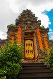 Balinese door facade of temple. Ubud. Bali. Very beautiful temple Balinese temple in Ubud. Bali. Indonesia Royalty Free Stock Photo