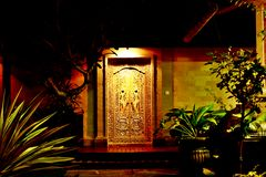 Balinese Doorstep Royalty Free Stock Photos