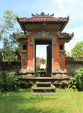Balinese Doorway. A traditional household doorway in Bali Stock Photography