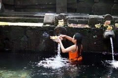 Balinese faithful Stock Photo