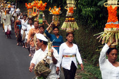 Balinese faithful Stock Images