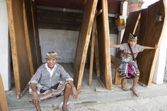 Balinese father and son Stock Image