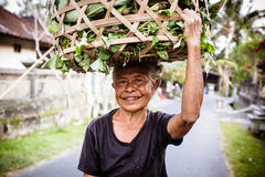 Balinese Female Worker Royalty Free Stock Photos