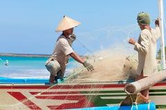 Balinese fishermen stock photography
