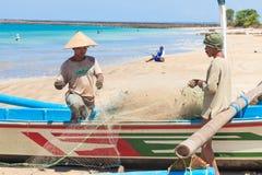 Balinese fishermen stock images