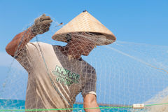 Balinese fishermen royalty free stock photos