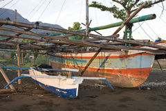 Balinese Fishing Boats Royalty Free Stock Images