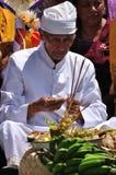 Balinese full moon prayers at Ubud, Bali Stock Image