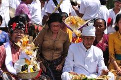 Balinese full moon prayers at Ubud, Bali Royalty Free Stock Photos