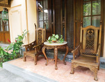 Free Balinese Furniture On Patio Royalty Free Stock Photography - 13083917