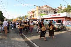 Balinese Gamelan bij Cultureel Festival 2017 stock fotografie