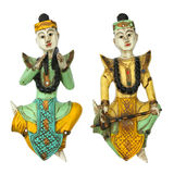 Balinese gamelan musician statuette Stock Photo