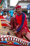 Balinese Gamelan player Royalty Free Stock Photo