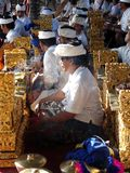 Balinese Gamelan players Royalty Free Stock Images