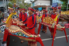 Balinese Gamelan players Stock Photo