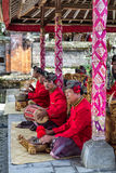 Balinese Gamelan players Royalty Free Stock Photos