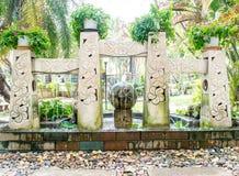 Balinese garden Stock Image