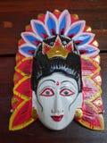 Balinese geschnitzte hölzerne Maske lizenzfreie stockfotografie