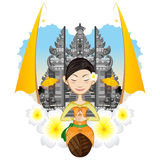 Balinese Girl stock illustration