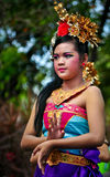 Balinese Girl with traditional dress Stock Photo