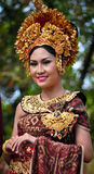 Balinese Girl with traditional dress Royalty Free Stock Photography