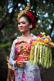 Balinese Girl With Traditional Dress Stock Images