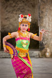 Balinese girls perform Legong and Barong Dance Royalty Free Stock Photography
