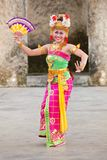 Balinese girls perform Legong and Barong Dance Royalty Free Stock Photo