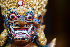 Balinese God statue. Closeup of Balinese God statue in temple complex Stock Images