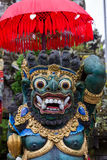 Balinese God statue in Central Bali temple. Indonesia Royalty Free Stock Photos