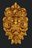 Balinese Gold Sculpture Stock Photo