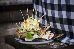 Balinese Hindu Offering Royalty Free Stock Photography