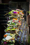 Balinese Hindu Offerings. Offerings are called banten in Balinese. It is possible that the word comes from the Sanskrit word bali, which means tribute Stock Image
