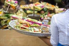 Balinese Hindu offerings Royalty Free Stock Image